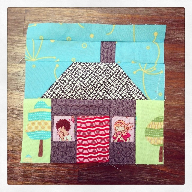And number 3 #beeblock done! #paperpieced for @luellabella