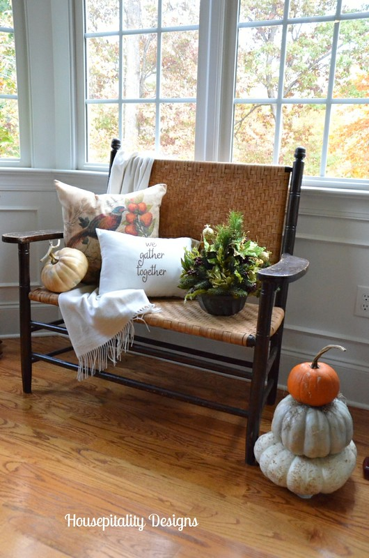 Antique Bench/Fall Decor