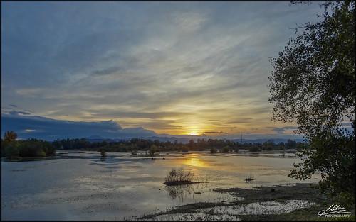sunset lake croatia hrvatska zalazak jezero orešje