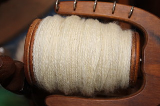 Spinning from the lock - wool
