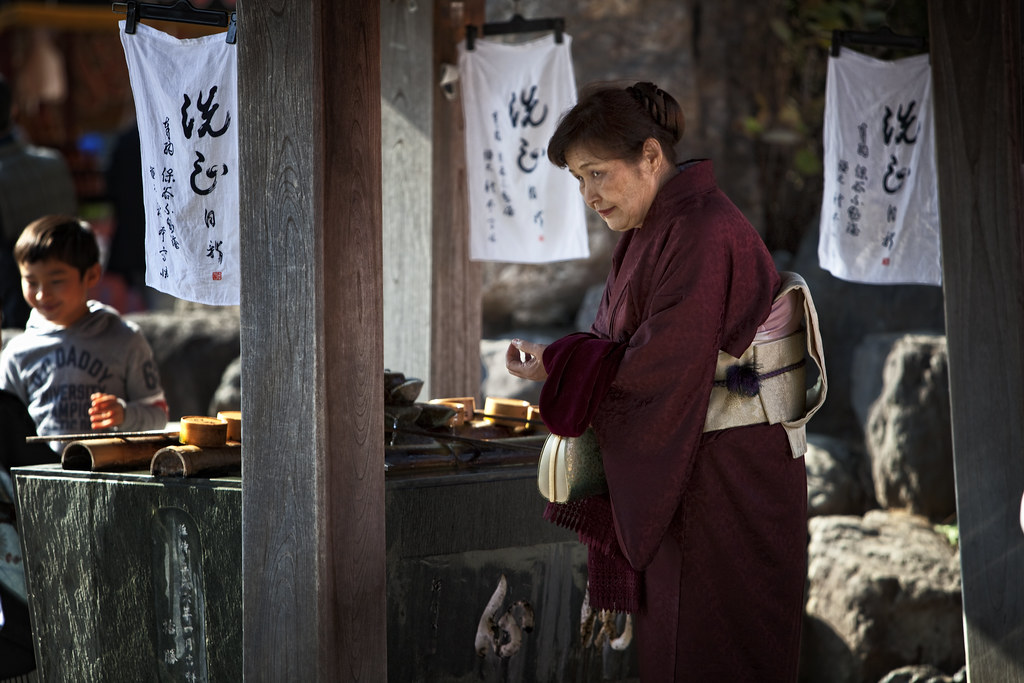 Ritual Cleansing At Takahatafudo Temple