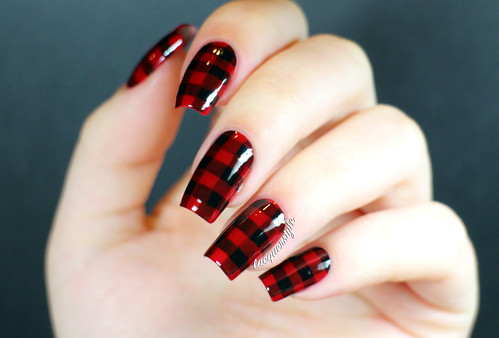 Lacquerstyle red black lumberjack plaid nails lumberjack plaid nails essie a england prinsesfo Choice Image