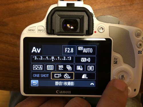 EOS Kiss X7 Touch screen