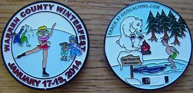 Warren PA Winterfest 2014 coin
