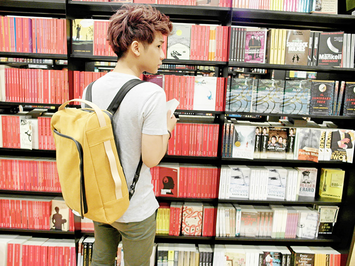 typicalben books with bag