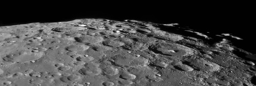 Moon South Pole - 110114 by Mick Hyde
