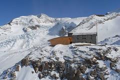 Foto per 22. Dal rifugio Citt+á di Mantova uno sguardo su ghiacciaio del Lys - Lyskamm - rifugio Gnifetti