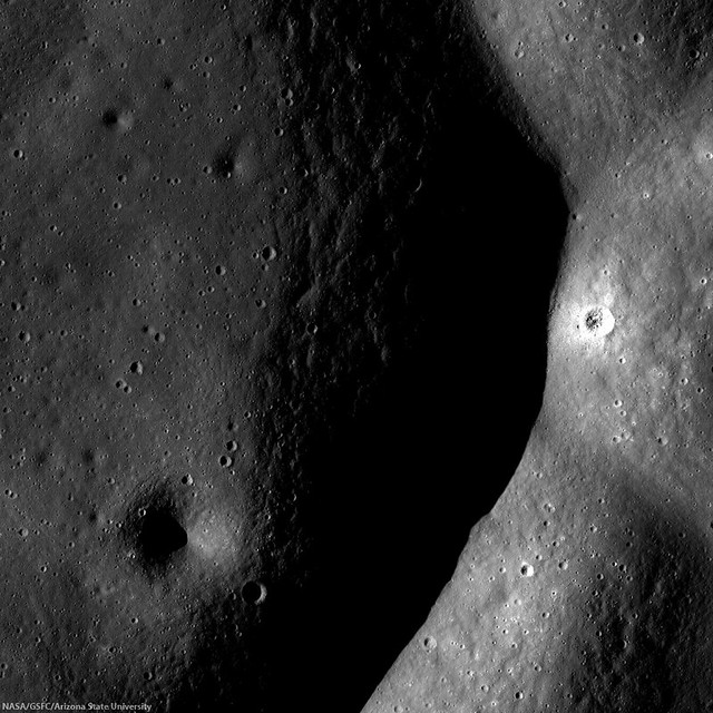 Small fresh crater in Komarov