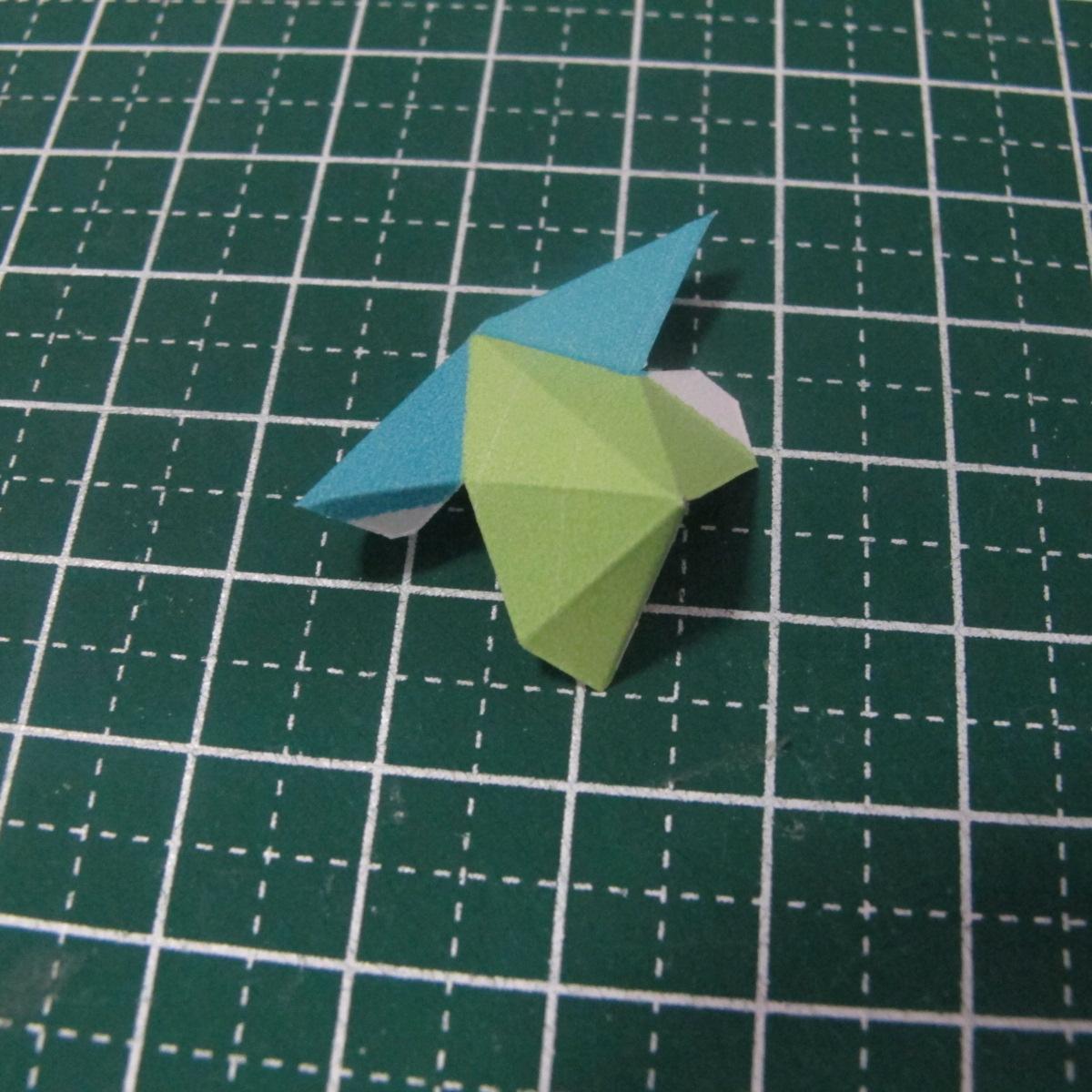 วิธีทำของเล่นโมเดลกระดาษรูปนก (Bird Paper craft ) 007