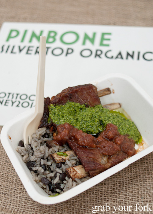 Braised sticky lamb ribs by Pinbone at the Sunday Marketplace, Rootstock Sydney 2014