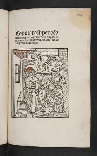 Title-page of Part 2 of  Lambertus de Monte: Copulata tractatuum Petri Hispani