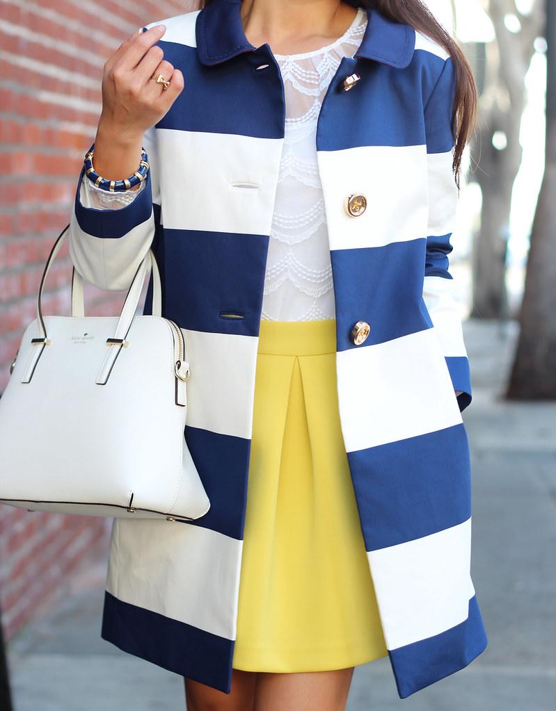 Kate Spade Striped Franny Coat_-14