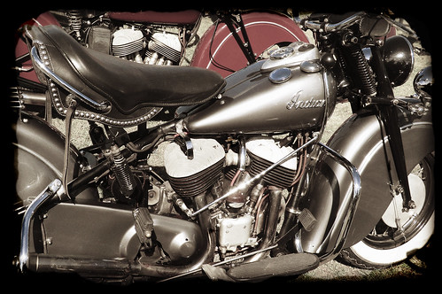 Pair of Indian motorcycles