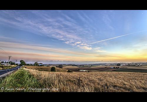road sky clouds sunrise landscape sony australia tasmania fields crops 169 sonycarlzeiss1635mmf28 sal1635f28 norrthmotton