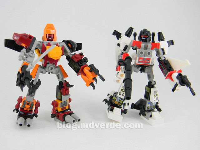 Transformers Predaking Kre-O - modo combinado vs Superion