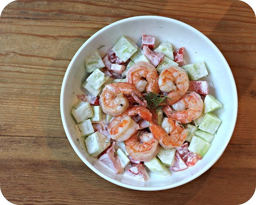 Cucumber and Tomato Shrimp Salad