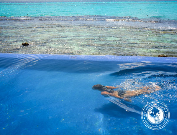 A Glimpse of the Island of Women at Isla Mujeres, Mexico - A Cruising Couple at the Infinity Pool on Isla Mujeres