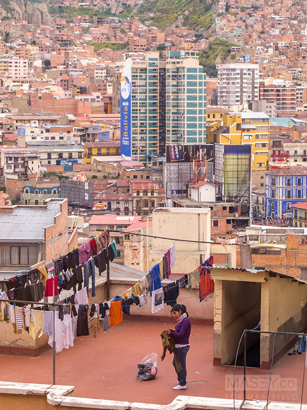 A snapshot of daily life in La Paz.