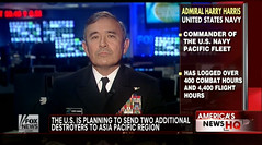 Adm. Harry B. Harris, Jr., appearing on Fox News, May 10 from New York.