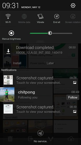 Notifications และ QuickSettings ของ Oppo Find 7a