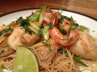 Scallop and Prawn Stir Fry : Close Up