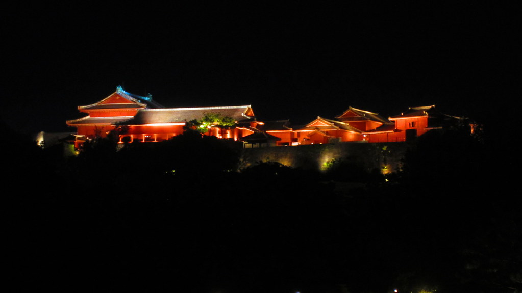 Night time at Shuri Castle