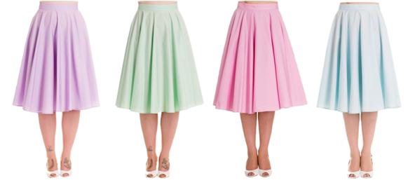 pastel skirts