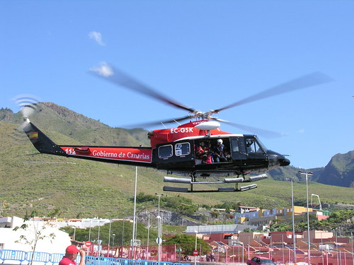 112 Emergency Services helicopter