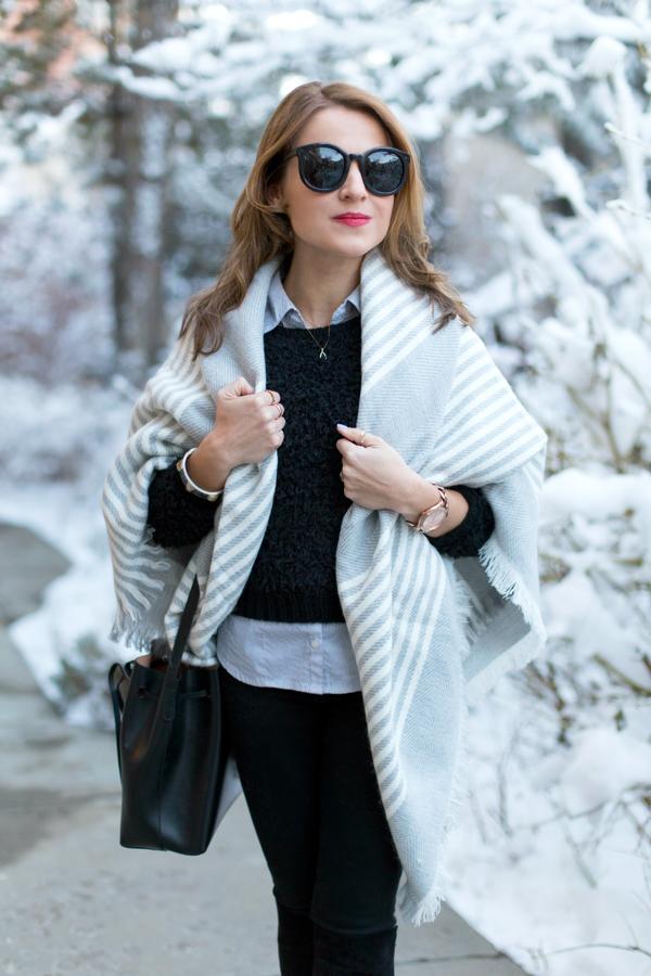Zara blanket scarf wrap