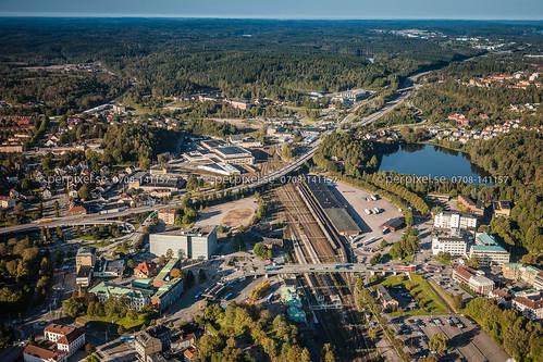 3 sverige swe västragötaland järnväg borås flygfoto