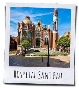 Het modernistische Hospital Sant Pau in Barcelona