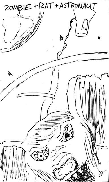 Zombie + Rat + Astronaut