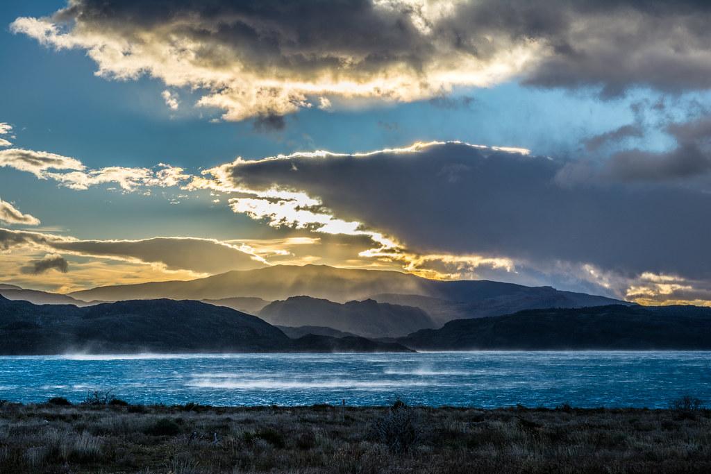 Storm on Pehoe Lake