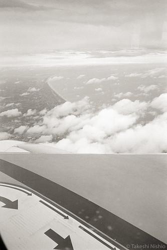fly over Kamisu city to NRT