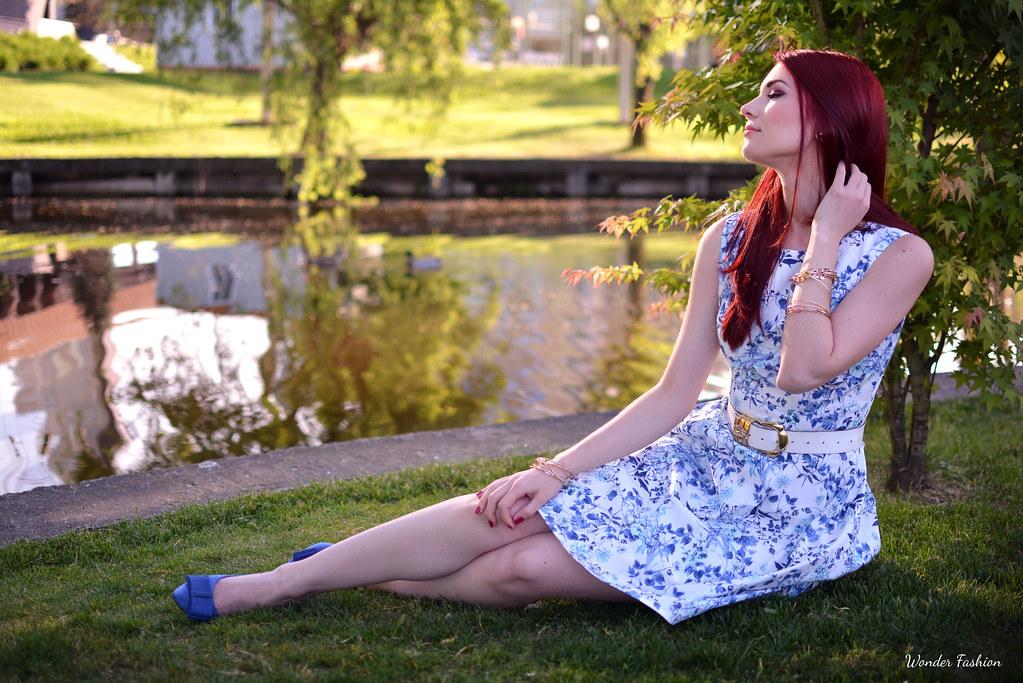 blue flower dress4