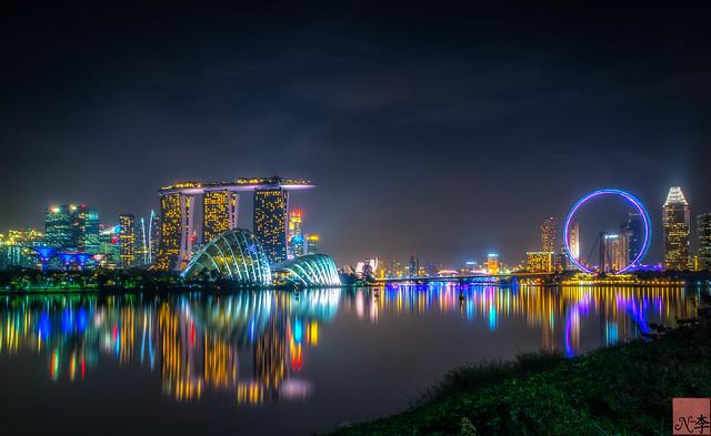 Marine Bay, Singapore night (1 of 1)