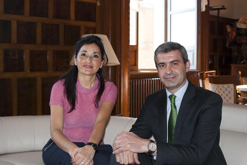 Visita institucional. Presidente de la Diputación Provincial de Toledo.