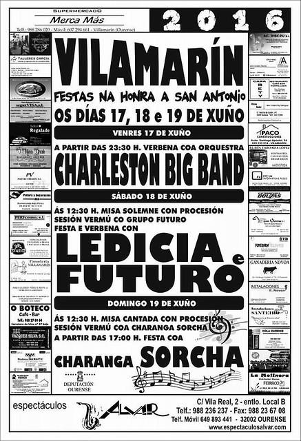 Vilamarín 2016 - Festas de Santo Antón - cartel