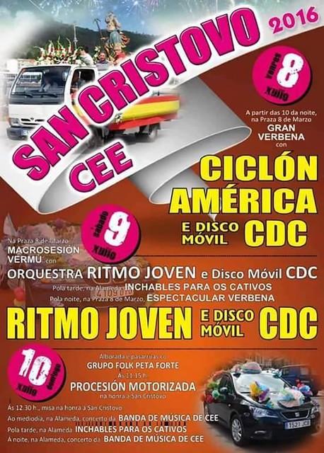 Cee 2016 - Festas de San Cristovo - cartel