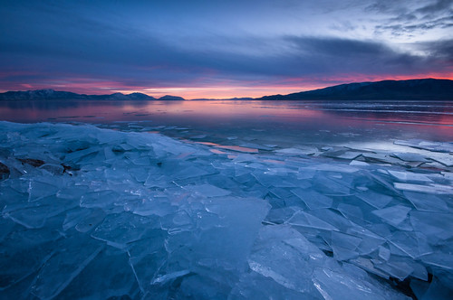 pink blue sunset cold color reflection ice colors clouds reflections utah nikon colorful cloudy sharp utahlake d90 americanfork colorfulsunset boatharbor sheetsofice lr4 iceoff americanforkut utahlakesunset americanforkboatharbor icedsunset
