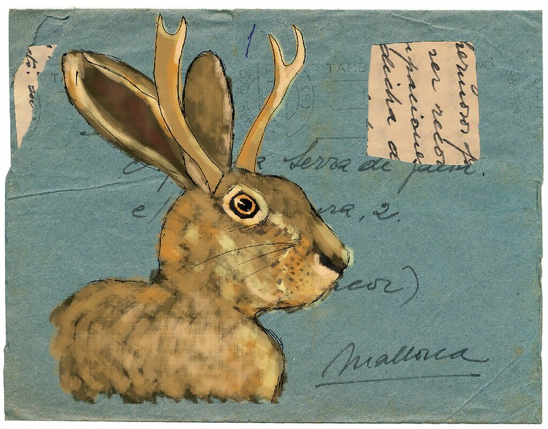 jackalope on vintage env
