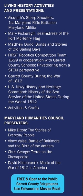 Garrett County Maryland in the War of 1812 event page 1