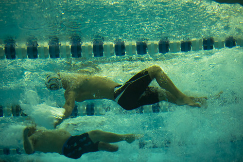 <p>Swimmers compete in the men's 50-meter backstroke at the 2013 Warrior Games in Colorado Springs, Colo., May 16, 2013. The Warrior Games is an annual event allowing wounded, ill and injured Service members and veterans to compete in Paralympic sports including archery, cycling, shooting, sitting volleyball, track and field, swimming and wheelchair basketball. (DoD photo by Mass Communication Specialist 2nd Class Andrew Johnson, U.S. Navy/Released)</p>