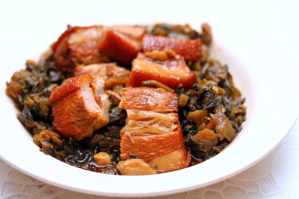 Plum Village Restaurant: Salted vegetables with pork