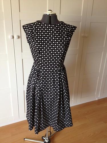 polka-dot W3 dress