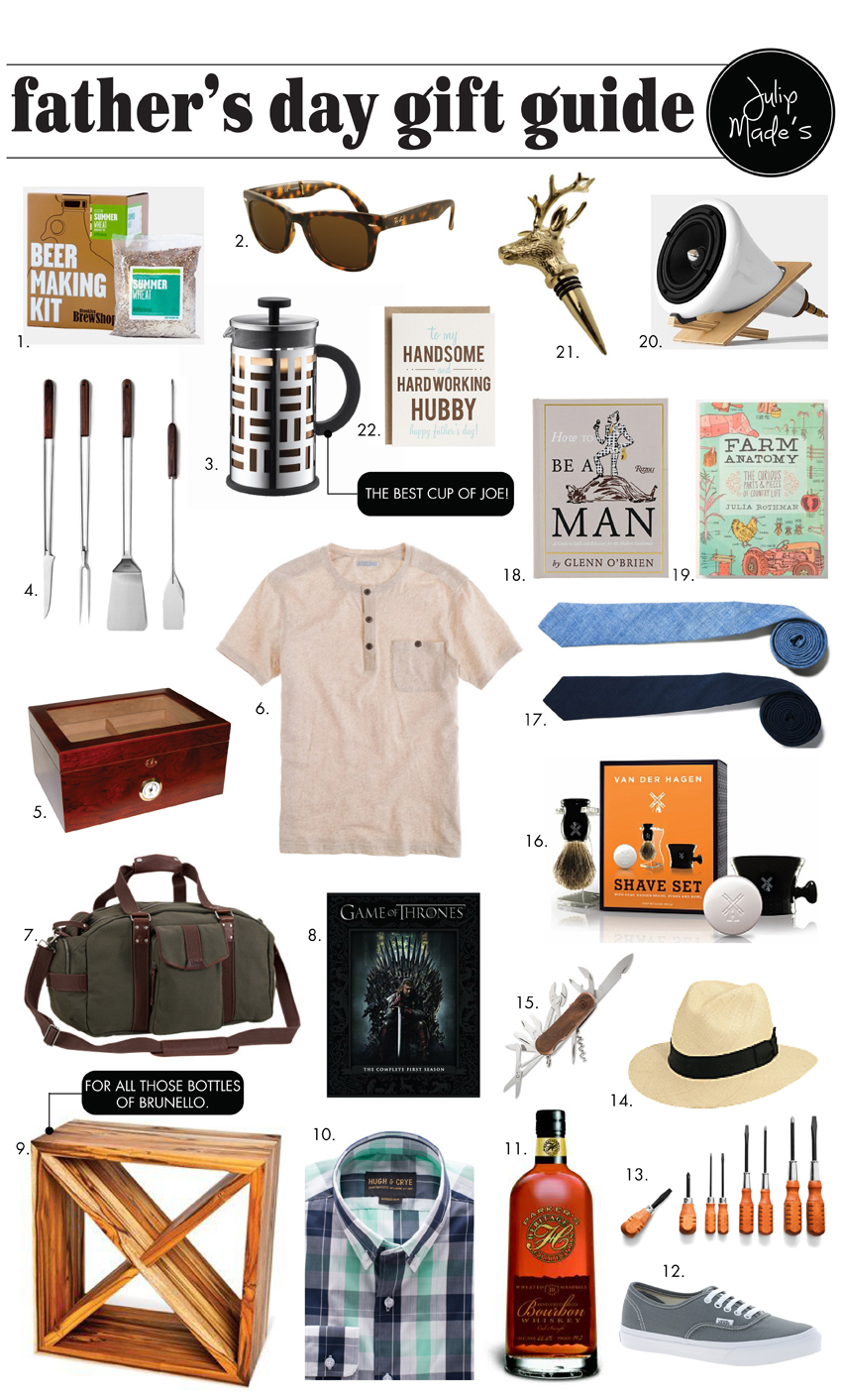Julip Made fathers day gift guide
