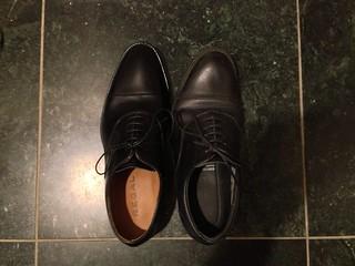 リーガル(REGAL)のゴアテックス・ストレートチップ黒革靴705RBH&622RAL