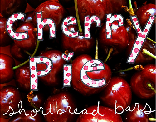 Cherry pie shortbread bars