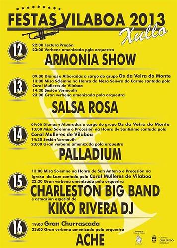Culleredo 2013 - Festas de Vilaboa - cartel