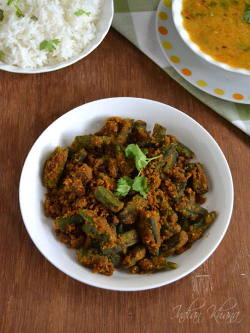 Indian Khana: Besanwali Bhindi Sabzi | Okra Recipes